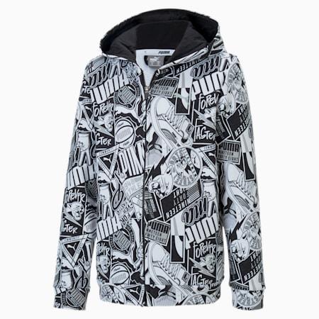 Alpha Hooded Jacket, Puma Black, small-IND