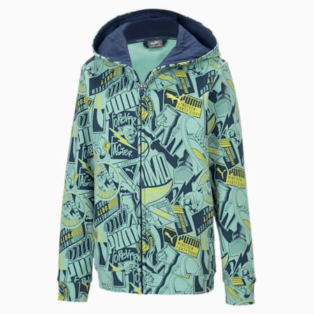 Alpha Hooded Jacket, Dark Denim, small-IND