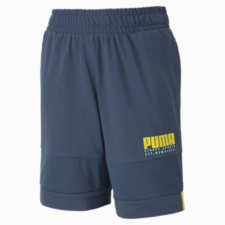Alpha Jersey Boys' Shorts, Dark Denim, small-SEA