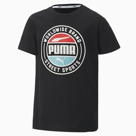 Alpha Summer Boys' Tee, Puma Black, small-SEA