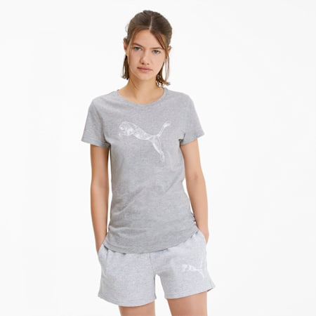 Women's Tee, Light Gray Heather-CAT, small-SEA
