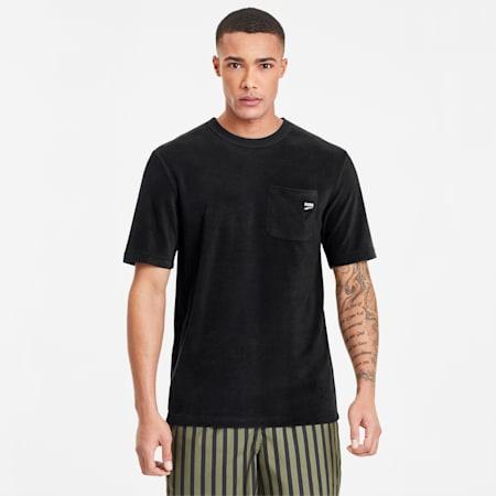 Downtown Herren Frottee T-Shirt, Puma Black, small