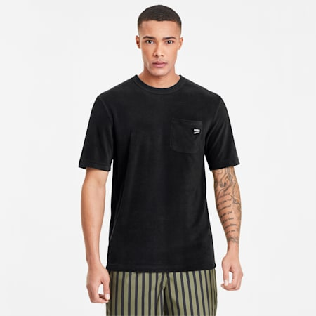 Downtown Towelling Men's Tee, Puma Black, small