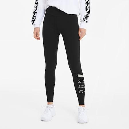 Rebel Damen Leggings, Puma Black, small