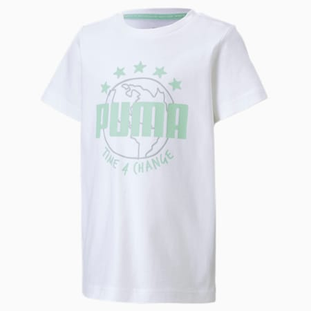 キッズ T4C Tシャツ 半袖 92-152cm, Puma White, small-JPN