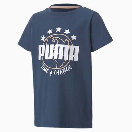 T4C T-shirt voor kinderen, Dark Denim, small