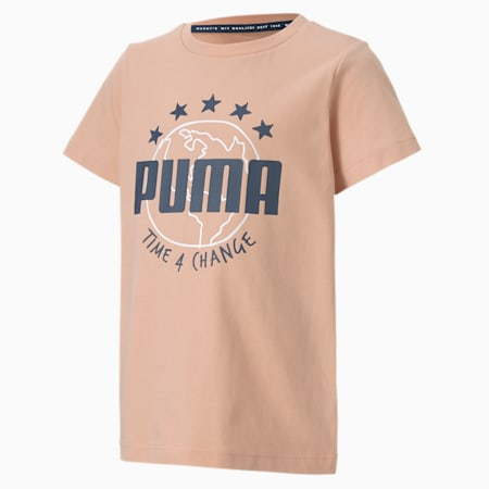 Time4Change Little Kids' Tee, Pink Sand, small