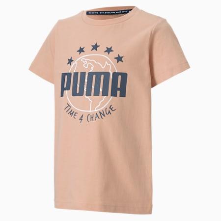 CamisetaTime4Change para niños pequeños, Pink Sand, pequeño