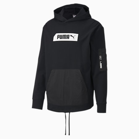 NU-TILITY Men's Hoodie, Puma Black, small