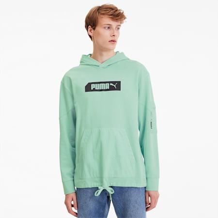 NU-TILITY Men's Hoodie, Mist Green, small