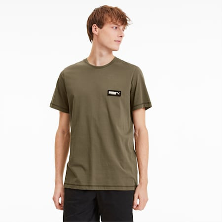 FUSION Men's Tee, Burnt Olive, small