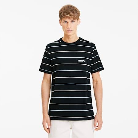 FUSION Striped Men's Tee, Puma Black, small-SEA