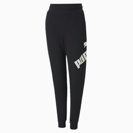 Big Logo Boys' Sweatpants, Puma Black, small
