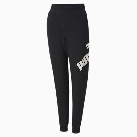 Big Logo Jungen Sweatpants, Puma Black, small