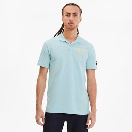 Athletics Men's Polo, Aquamarine, small