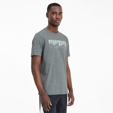 REBEL Bold T-shirt voor heren, Medium Gray Heather, small