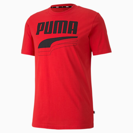 REBEL Bold Men's Tee, High Risk Red, small