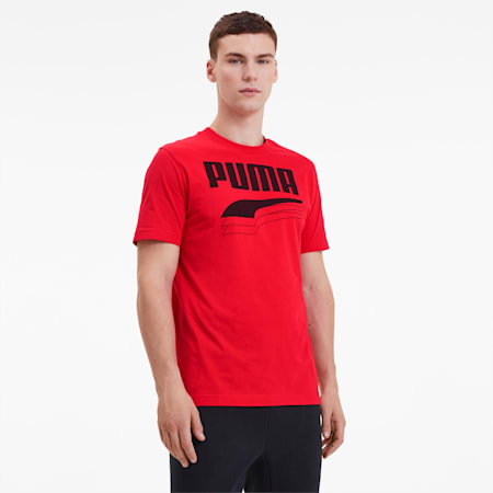 T-Shirt REBEL Bold pour homme, High Risk Red, small