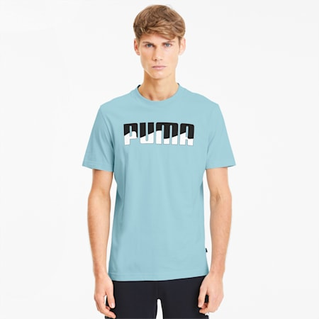 T-Shirt REBEL Bold pour homme, Aquamarine, small