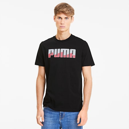REBEL Bold Men's Tee, Puma Black-Bubblegum, small-SEA
