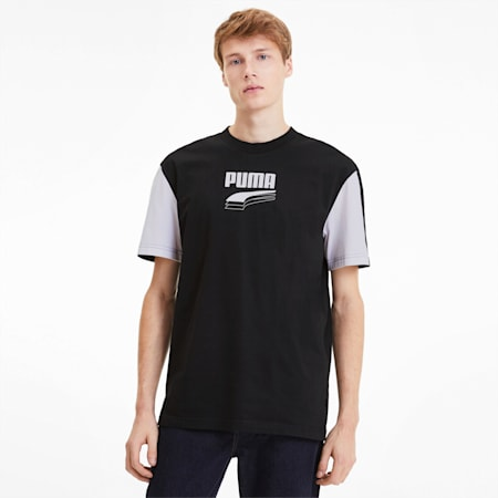 Rebel Block Men's Tee, Puma Black, small