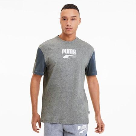 Camiseta Rebel con colores combinados, para hombre, Medium Gray Heather, pequeño