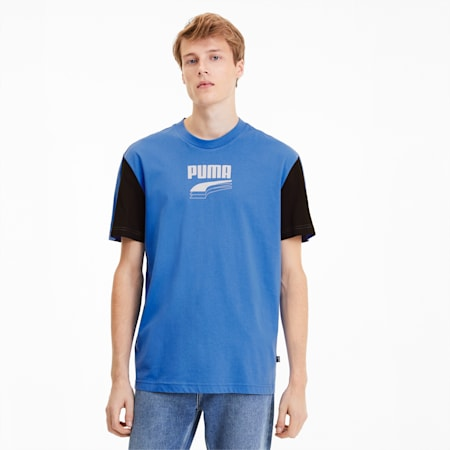 Camiseta Rebel con colores combinados, para hombre, Palace Blue, pequeño