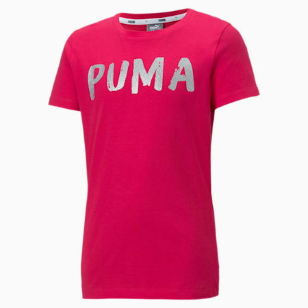 Alpha Girls' Tee, BRIGHT ROSE, small-SEA