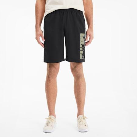 REBEL Woven Men's Shorts, Puma Black-Puma Black, small-SEA