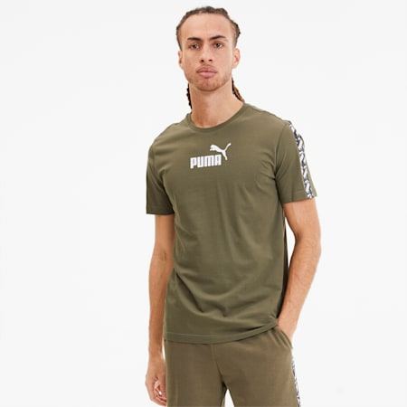 Amplified Men's Tee, Burnt Olive, small