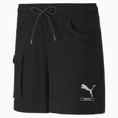 NU-TILITY Women's Shorts, Puma Black, small-SEA