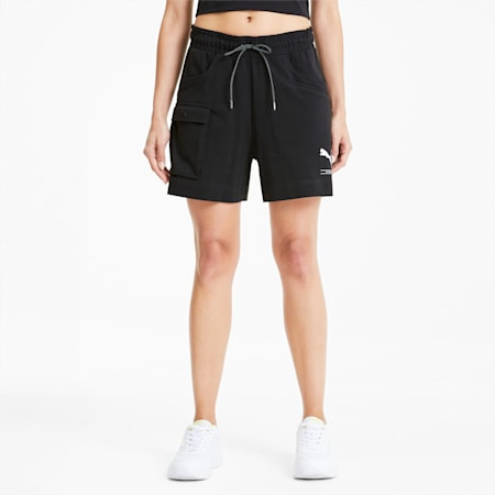 NU-TILITY Women's Shorts, Puma Black, small-SEA