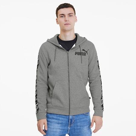 Amplified Men's Full Zip Hoodie, Medium Gray Heather, small