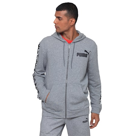 AMPLIFIED Hooded Jacket TR, Medium Gray Heather, small-IND