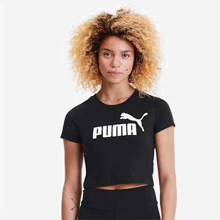 Essentials+ Women's Fitted Tee, Puma Black, small