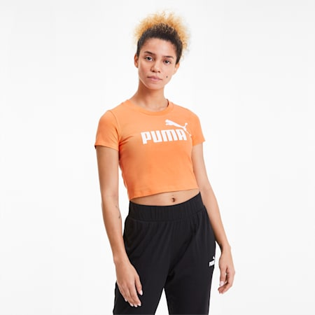 Essentials+ Women's Fitted Tee, Cantaloupe, small