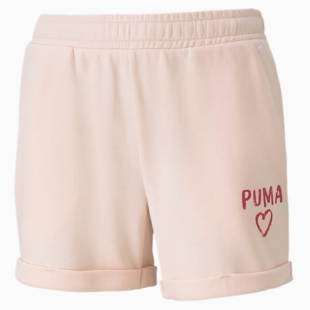 Alpha Girls' Shorts, Rosewater, small-SEA