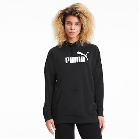 Sudadera con capucha anchaEssentials+ para mujer, Puma Black, pequeño