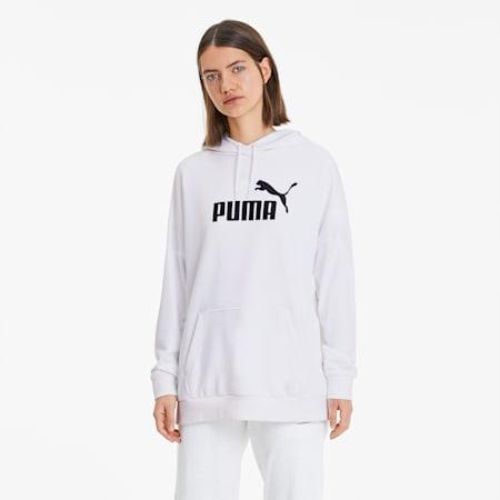 Essentials+ Women's Elongated Hoodie, Puma White, small