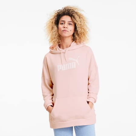 Essentials+ Women's Elongated Hoodie, Rosewater, small
