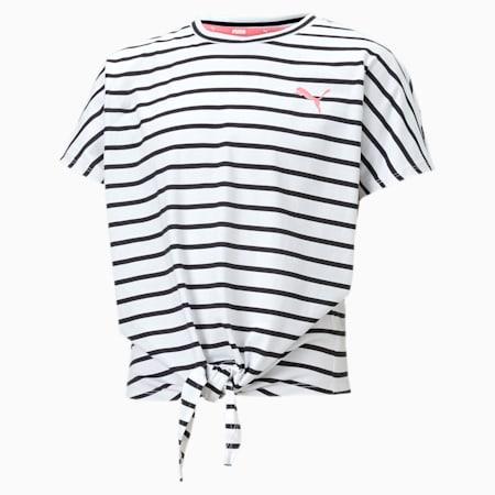 Alpha T-shirt voor meisjes, Puma White, small