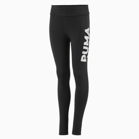 Modern Sports Girls' Leggings, Puma Black-Puma White, small
