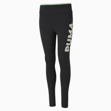Modern Sports Leggings, Puma Black-Mist Green, small-IND