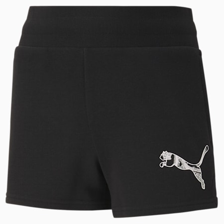 Graphic Girls' Shorts, Puma Black, small-SEA