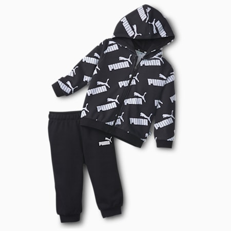 Minicats Amplified Babies' Sweat Suit, Puma Black, small