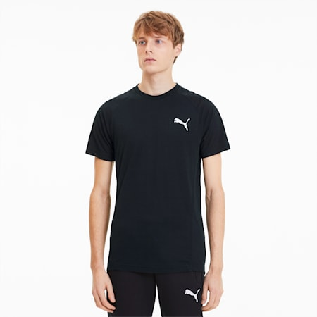 Camiseta para hombre Evostripe, Puma Black, small