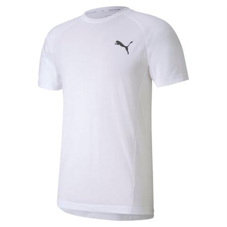 EVOSTRIPE Slim T-shirt, Puma White, small-IND
