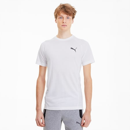 CamisetaEvostripe para hombre, Puma White, pequeño