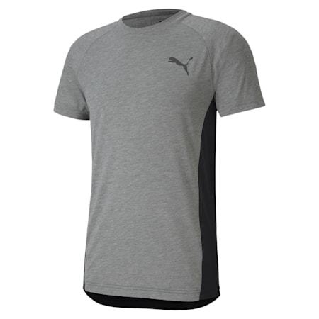 EVOSTRIPE Slim T-shirt, Medium Gray Heather, small-IND
