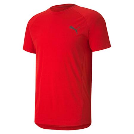 EVOSTRIPE Slim T-shirt, High Risk Red, small-IND